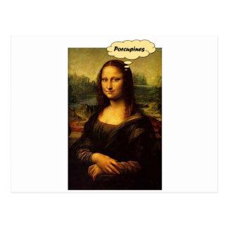 Mona Lisa Porcupines Postcard