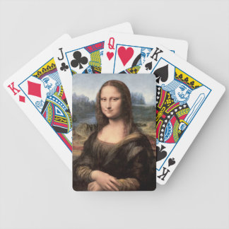 Mona Lisa Portrait / Painting Bicycle Playing Cards