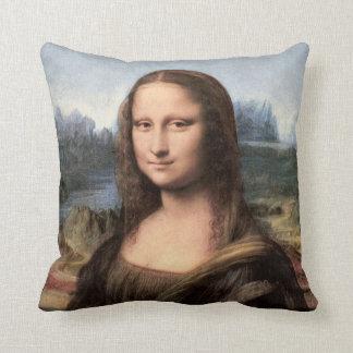 Mona Lisa Portrait / Painting Throw Pillow