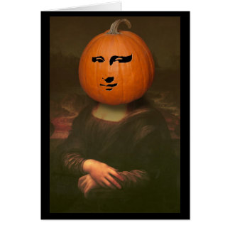 Mona Lisa Pumpkin Card