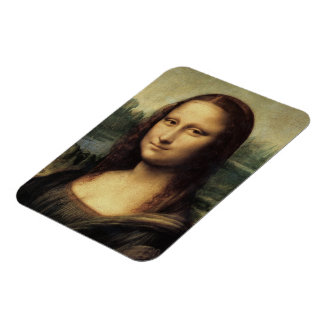 Mona Lisa Rectangular Photo Magnet