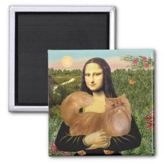 Mona Lisa - Red Persian cat Magnet