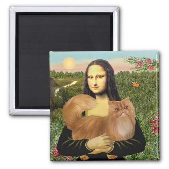 Mona Lisa - Red Persian cat Magnet