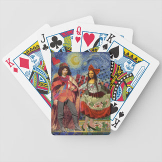 Mona Lisa Romance Bicycle Playing Cards