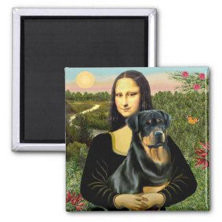 Mona Lisa - Rottweiler (#3) Magnet