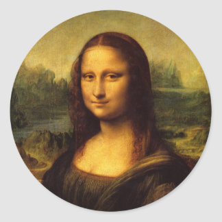 Mona Lisa Round Sticker