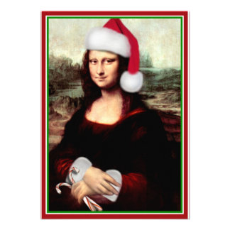 Mona Lisa s Santa Hat Personalized Announcements