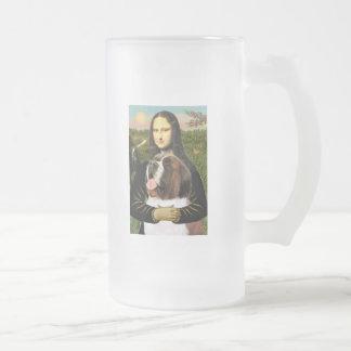 Mona Lisa - Saint Bernard Frosted Glass Beer Mug