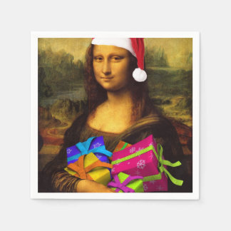 Mona Lisa Santa Claus Disposable Serviettes
