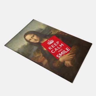 Mona Lisa Says Keep Calm And Smile Doormat
