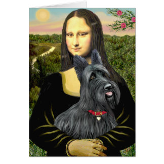 Mona Lisa - Scottish Terrier #1 Card