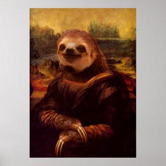 Mona Lisa Sloth Poster