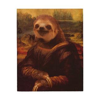 Mona Lisa Sloth Wood Canvases