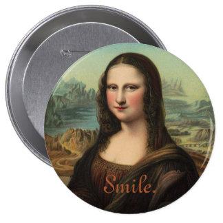 Mona Lisa Smile Button