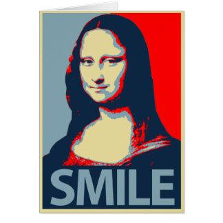 Mona Lisa Smile Greeting Card
