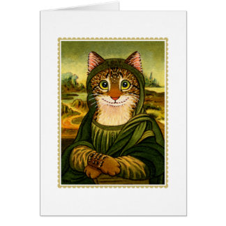 Mona Lisa Smile CAT Notecard Note Card