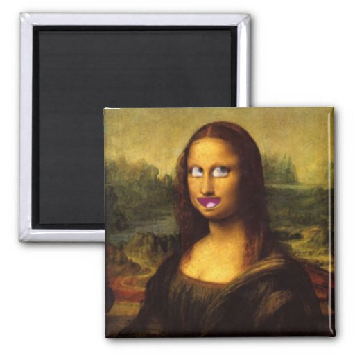 Mona Lisa Smile? Fridge Magnets