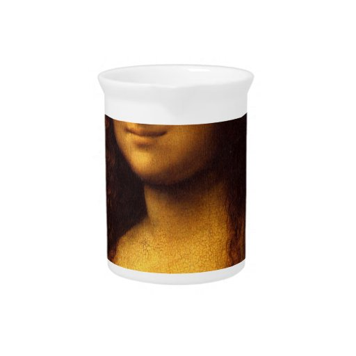 Mona Lisa Smile Beverage Pitcher