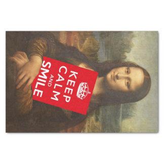 "Mona Lisa Smiles 10"" X 15"" Tissue Paper"