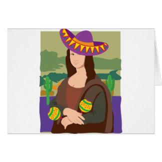 Mona Lisa Sombrero Card