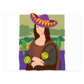 Mona Lisa Sombrero Postcard