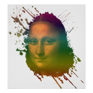 Mona Lisa Splash Poster