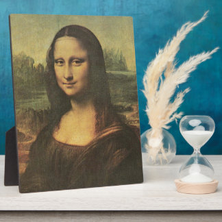 Mona Lisa Tabletop Plaque with Easel
