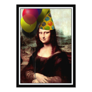 Mona Lisa -  The Birthday Girl 13 Cm X 18 Cm Invitation Card