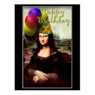 Mona Lisa -  The Birthday Girl Postcard