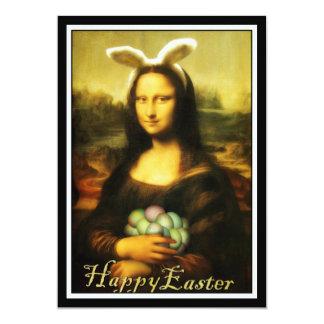 Mona Lisa, The Easter Bunny 13 Cm X 18 Cm Invitation Card
