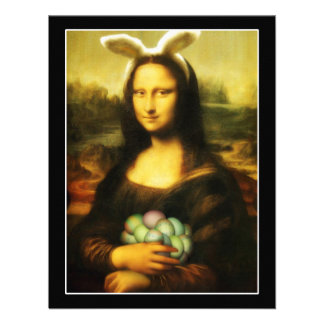 Mona Lisa the Easter Bunny Personalized Invitation