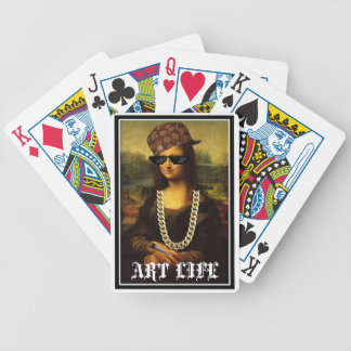 Mona Lisa Thug Life Art Life Bicycle Playing Cards