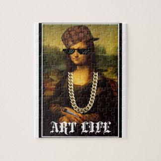 Mona Lisa Thug Life Art Life Jigsaw Puzzle