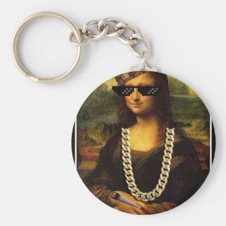 Mona Lisa Thug Life Art Life Key Ring
