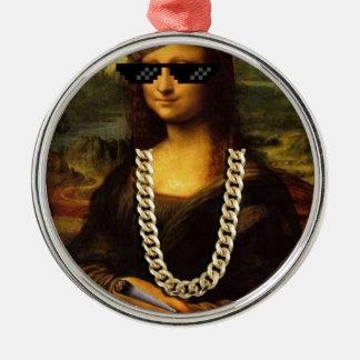Mona Lisa Thug Life Art Life Metal Ornament