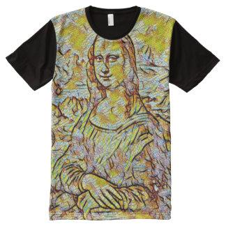 Mona Lisa Tile Portrait All-Over Print T-Shirt