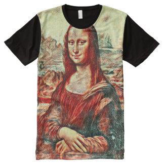 Mona Lisa Truth Oil Portrait All-Over Print T-Shirt