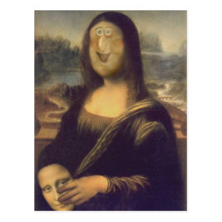 Mona Lisa - Unmasked Postcard