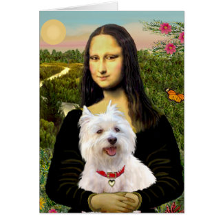 Mona Lisa - Westie 3 Card