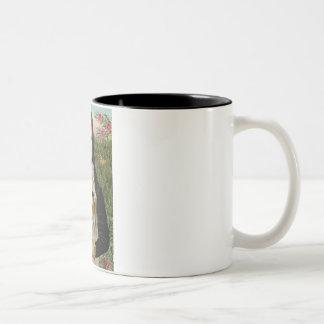 Mona Lisa - Wheaten Terrier 1 Two-Tone Coffee Mug
