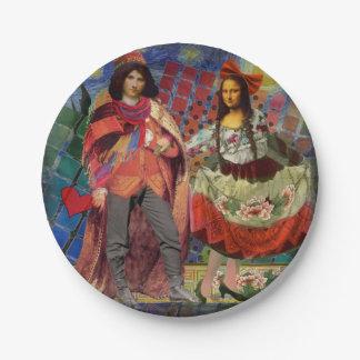 Mona Lisa Whimsical 7 Inch Paper Plate