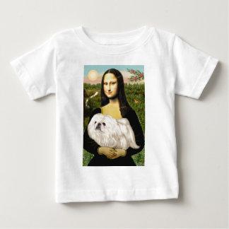 Mona Lisa - White Pekingese (#4) Baby T-Shirt