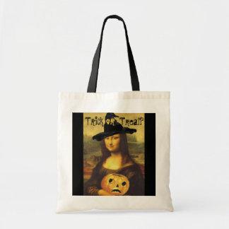 Mona Lisa Witch & JOL Halloween Trick or Treat Bag