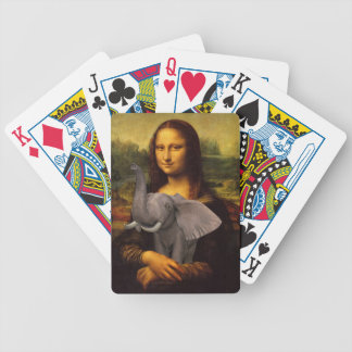 Mona Lisa With Elephant Poker Deck