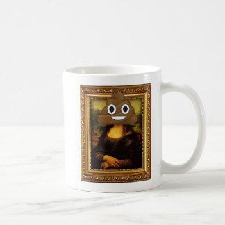 Mona Lisa with Happy Poop Coffee Mug