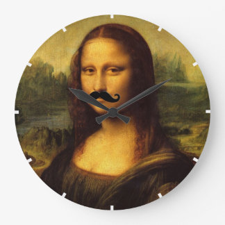 Mona Lisa With Mustache Wallclock