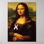 Mona Lisa With Pink Ribbon