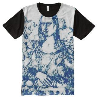 Mona Lisa Wood Print Portrait All-Over Print T-Shirt