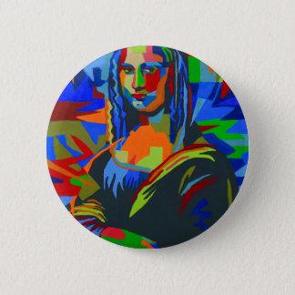 Mona Lisa Wpap 6 Cm Round Badge