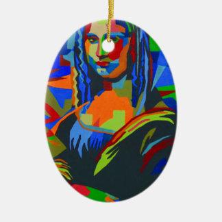 Mona Lisa Wpap Ceramic Ornament